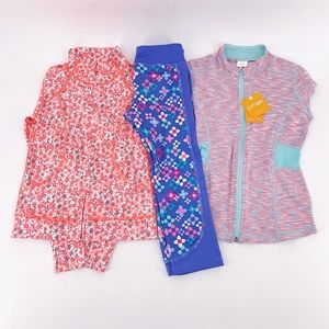 Girls' Mixed Brands Lot of 3 Active Items Sz 6/7/8